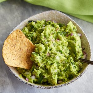 A scaled down version of the authentic Chipotle restaurant's guacamole recipe that comes straight from its creators.