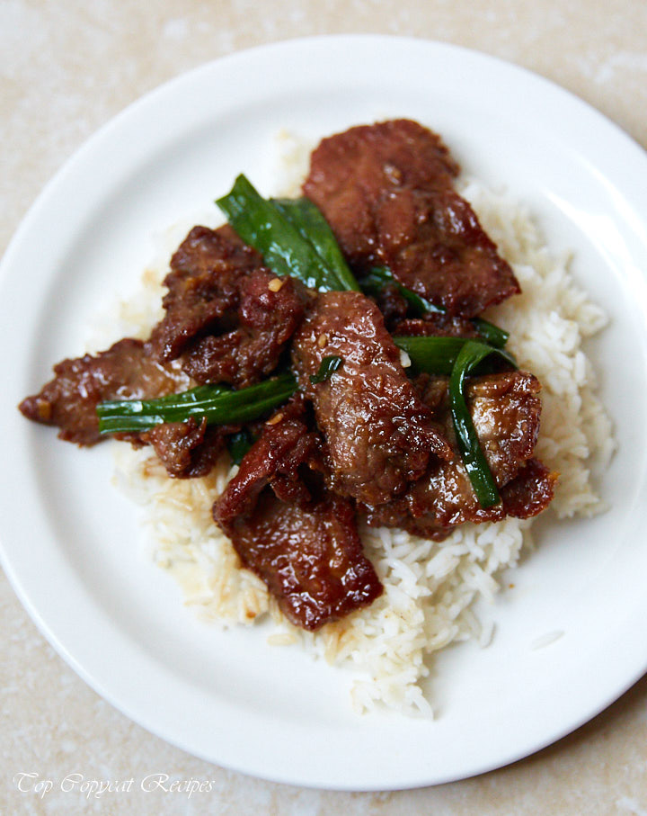 P.F. Chang's Mongolian Beef authentic recipe that was posted on P.F. Chang's website. | Top Copycat Recipes